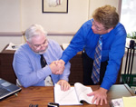 David A. Zimmer, PMP working with project management client